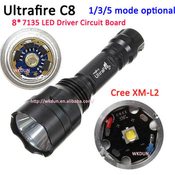 3-mode (m-l-s) Ultrafire C8 Cree Xm-l2 8x7135 Led Driver 2.8a ...