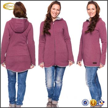 da5109070da0 Ecoach Womens Long Sleeve Maternity Pregnancy Hooded Jacket ...