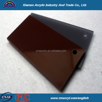ISO9001 year long translucent brown acrylic sheet