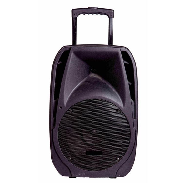 Outdoor Wireless Dvd Pa System Bluetooth Portable Mini Trolley Wheels Speaker With Handle