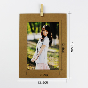 Wholesale Custom your own design Cheap kraft paper photo frame 5x7