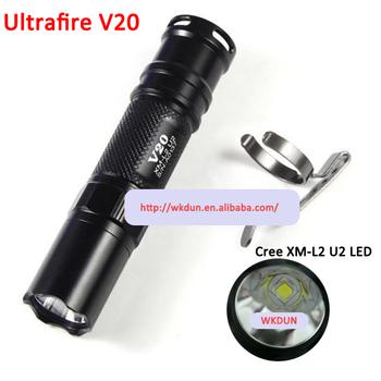 Ultrafire V20 Cree Xm-l2 U2 Led 425 Lumens 3-mode Led Flashlight ...