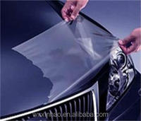 Transparent high glossy paint protection film