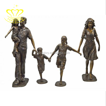 Outdoor home & garden decor Best selling New product bronze Life Size figure sculpture