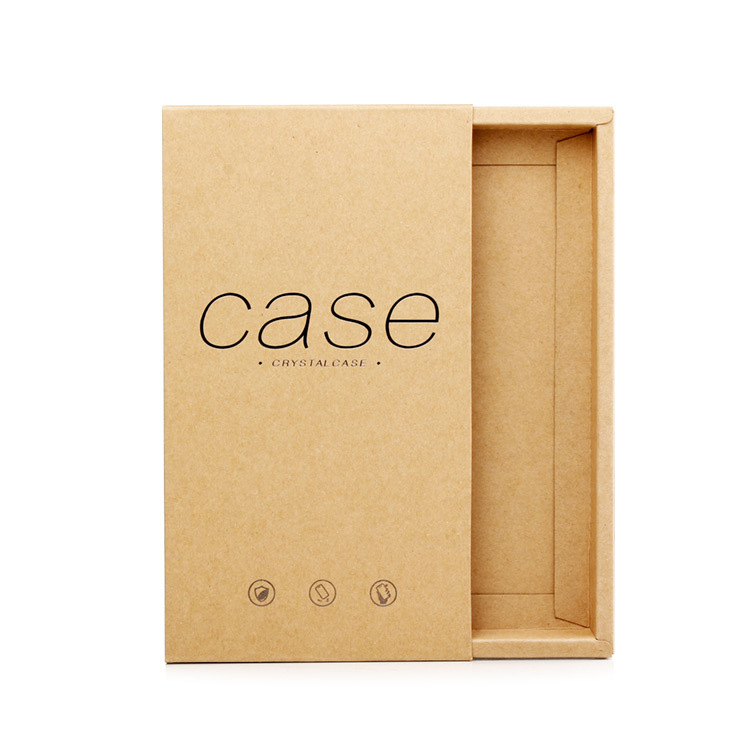 IKFCASE Fordable Kraftpaper Phone Case Packing Box Hot Stamping retail package kraftpaper box for phone case