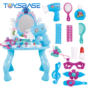 Diy Beauty Set Toy - New Girls Fashion Pretend Barber Shop Kids Play Beauty Set