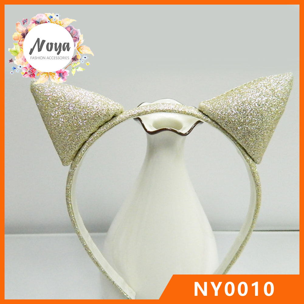 Glitter Cat Ears Plastic Hair Band Sexy Animal Ears Hair Band