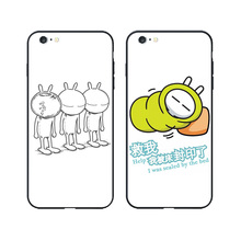 Funny MEME Tuzki Case for iPhone 5 6 7 8 Plus Simplicity TPU Printing Back Cover for Coque Samsung Galaxy S8 Plus