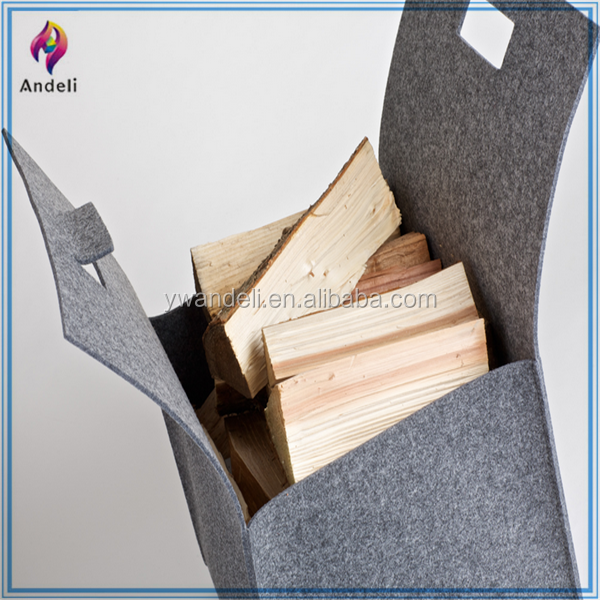 Felt Firewood Basket made of Eco-Friendly material with flexile handles