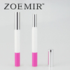 Plastic cosmetic packaging tube slim empty double lip gloss lipstick container