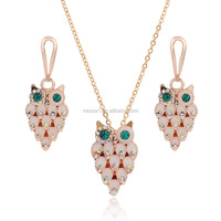 Fashion owl jewlery set owl pendant Wholesale NS-109