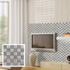 Thin strips basketweave wooden mosaic design, the TV setting wall tiles