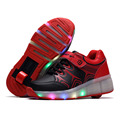 2016 New Child LED Heelys wheelys roller shoes sneakers with wheels for Girls Boys zapatillas con