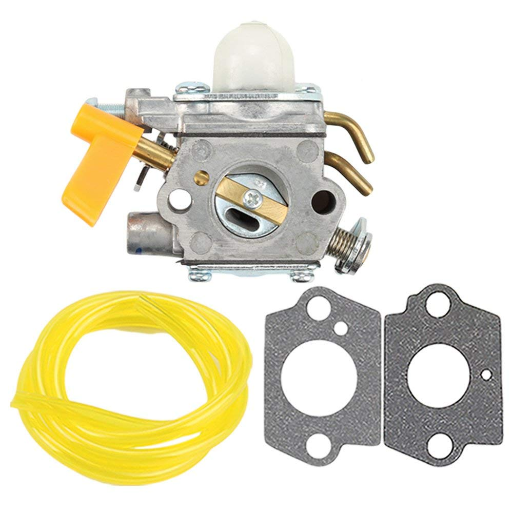 Hilom C1U-H60 Carburetor with Fuel Line Gasket for Ryobi Homelite 30CC 26CC 25CC Trimmer Craftsman Blower Brush Cutter Replace 308054013 308054012 308054004 308054008