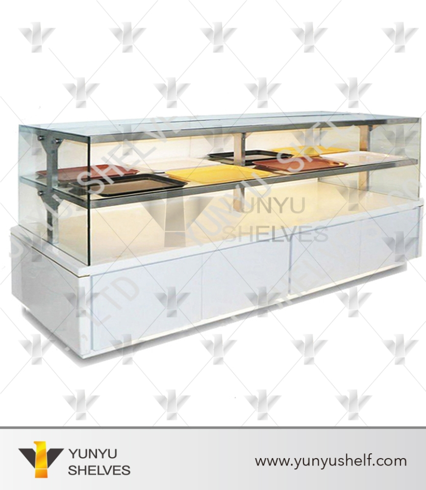 Guangzhou wholesale glass food warmer display showcase