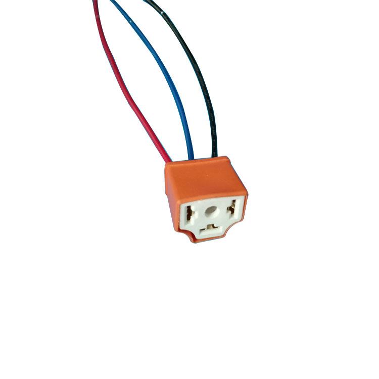 h4 ceramic 4 pin dc 12v automotive car wiring harness relay socket