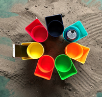 Hot selling promotional colorful plastic beach cup holder