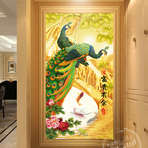 3D beautiful peacock oil painting on canvas modern simple frame painting 5  piece canvas painting for living room decoration