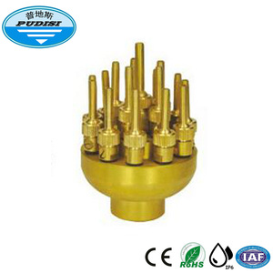 Brass jet water fountain nozzle for outdoor water fountain