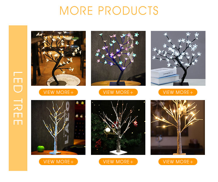 Top Sale 48 led 4Ft Warm White Waterproof Lighted Snow Tree