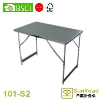 1m Height Adjule Multi Functional Metal Folding Picnic Table