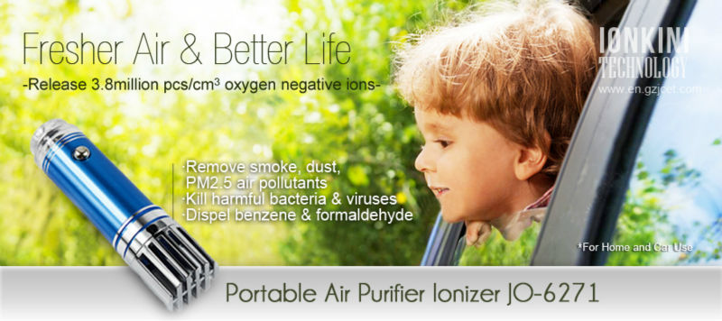 Portable Personal Ionic Air Cleaner Revitalizer Car Ionizer Purifier Air Revitaliser JO-6271