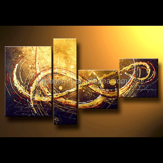 100% Handpainted framed modern abstract oil painting of canvas picture for decoration