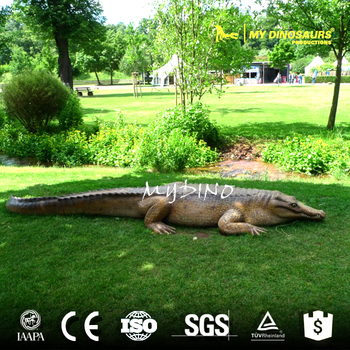 MY Dino AA-53 Realistic 4M Long America Alligator Statue
