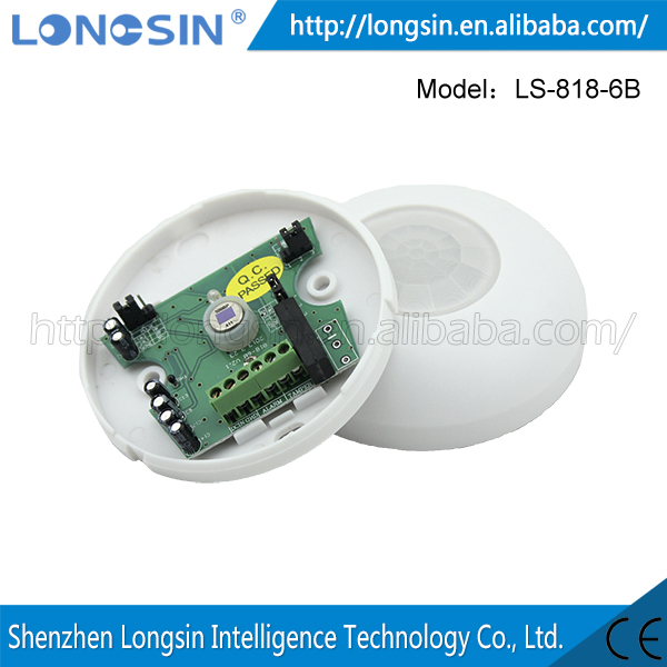 DC24V Wired Ceiling-mounted mini 80*22mm PIR Detector Passive PIR Detector LS-818-6B