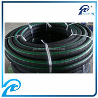 Black color wear resistant weaving fiber braided sand blast hose 38mm with cloth covered