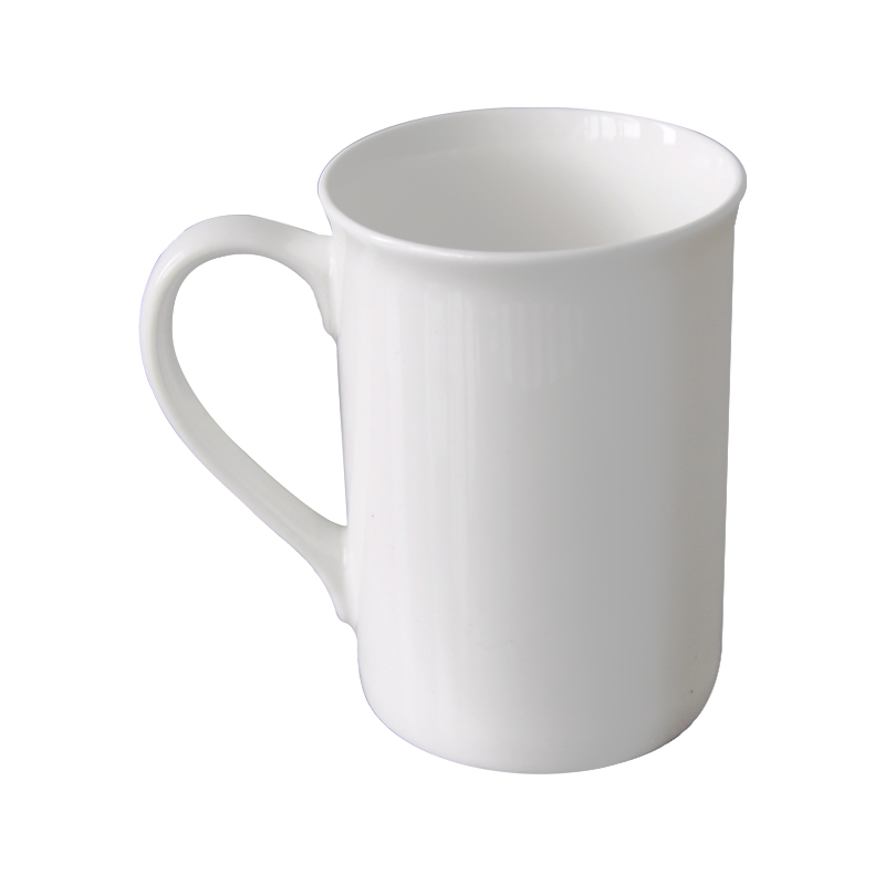 10oz Bone China Coil Rim Mug