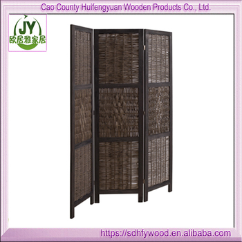 Slaapkamer Privacy Houten Folding Screen,Rieten Scheidingswand ...