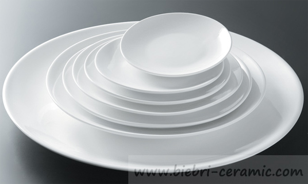 Plain White Color Logo Decal Printable Customized Restaurant Dinner Plates Dinnerware Sets : plain white dinnerware - pezcame.com