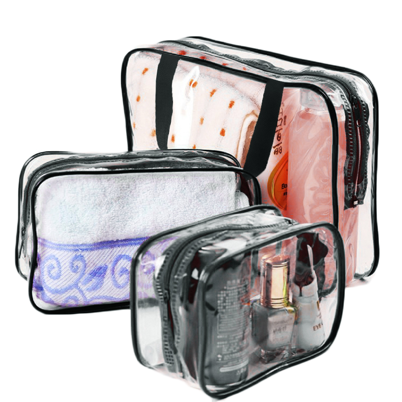 fashion cheap eco beauty girls round travel transparent clear pvc cosmetic  bag 8262d594305ba