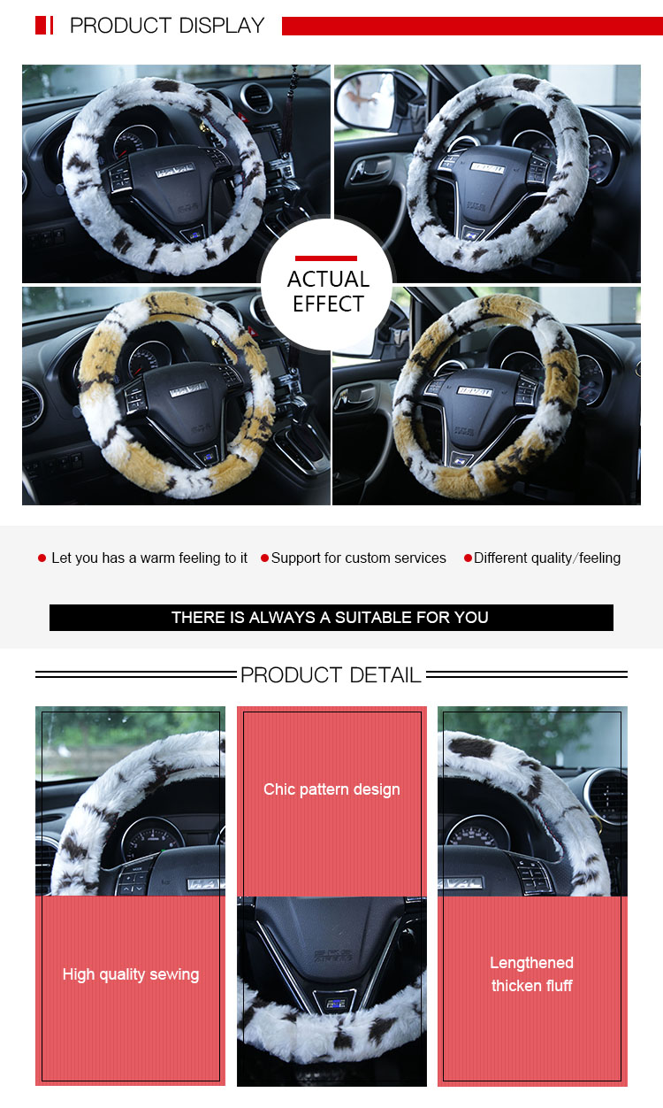 Fantastic China Newest Fur Flower Steering Wheel Cover