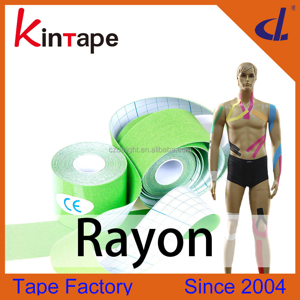 Easy and Fashion Sports Equipment protector Kinesiology tape for outdoor exercise, yoga etc team sports and colorfull
