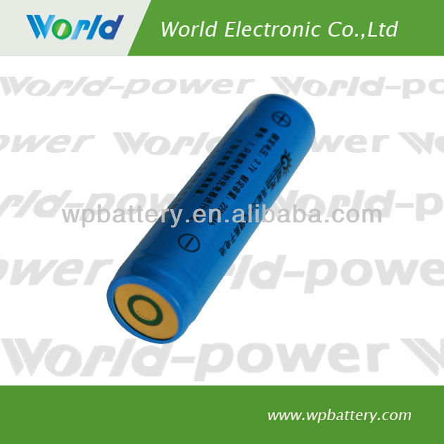 Rechargeable Panasonic 18650 3.7V 1800mAh Lithium ion/Li-ion Battery(WP-BP-1180)