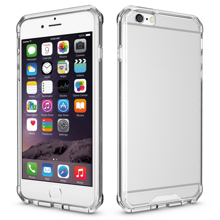 Mobile Phone Acrylic Tpu Transparent Hard Thin Case For iphone 6