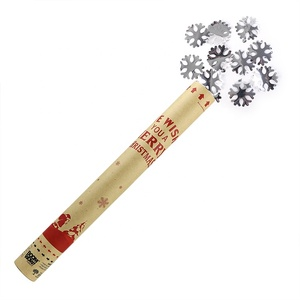 Boomwow silver foil snowflake confetti cannon party popper for christmas decoration