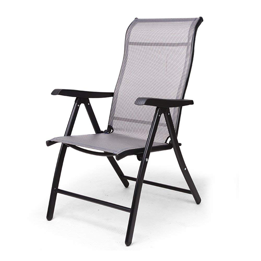 Lounge chair YNN Folding Chair Sunlounger Family NAP Chair Office Lounger Back Beach Chair (Color : Black, Size : Standard Edition)