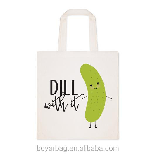 Cotton Canvas Dill With It Tote Bag