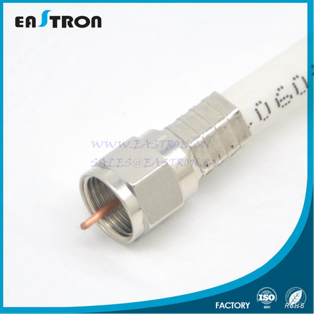 RG6 crimp male F connector
