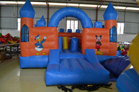 0.55mm pvc inflatable castles for commercial events, school