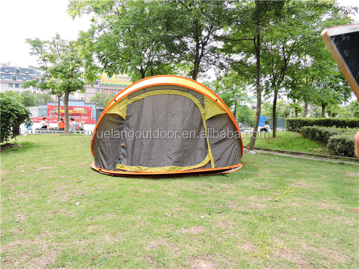 yiwu yuelang outdor camping waterproof polyester superb ultra light tent with folding fiberglass poles