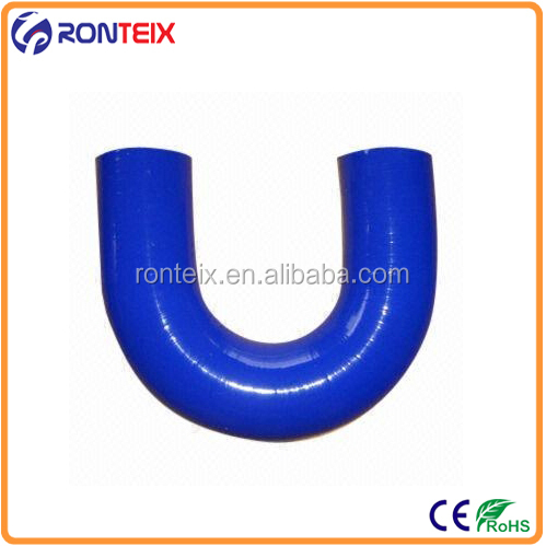 Blue Color 180 Degree Elbow U Shape Bend Silicone Hose