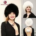 Sinofashion 2016 European high grade Faux fox fur hat Russian hat Women winter snow cap ear