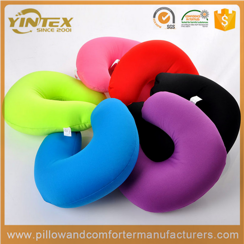 2016 New fashion U-shape Mircobead COtton fabric Neck Pillow