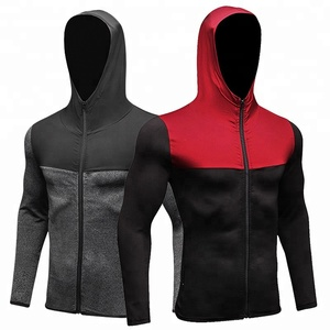 Men winter running breathable quick dry jacket yoga fitness sports wind zipper coat compression exercise bodybuilding hoodies