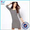 woman wholesale apparel clothing sleeve dress women striped casual free prom dress sexy girl without dress