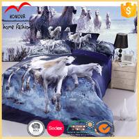 New design wholesale horse print comforter set bedding